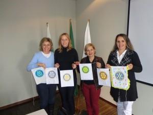 Sinara Favaro de Morais, Isaura Telli da Silva, Rosilda Aparecida Jesus e Sandra Greca Toledo