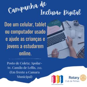 Campanha de Inclusao Digital com jovens
