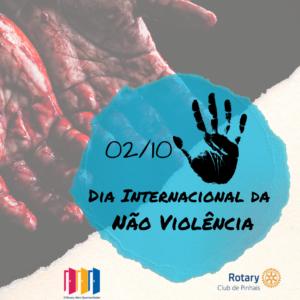 2 de outubro. dia internacional da nao violencia