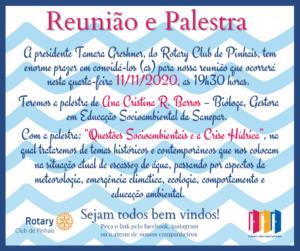 11 de novembro. convite reuniao