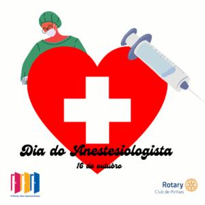 16 de outubro. dia do anestesiologista