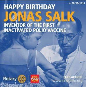 28 de outubro. inventor vacina da polio