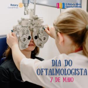 7 de maio. dia do oftalmo
